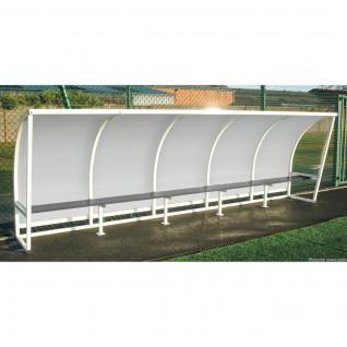 Stahlseitenschutzdach transparente Seite 1,60m 2,50m Sporti France