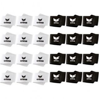 Erima tib scratch 24 Paare (weiß und schwarz)