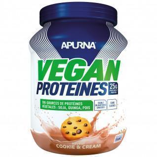 Veganes Eiweiß Apurna Cookie and cream - Pot 600g