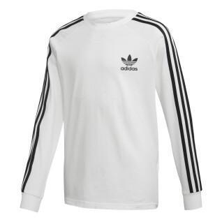 Langärmeliges adidas 3-Streifen Junior-T-Shirt mit langen Ärmeln
