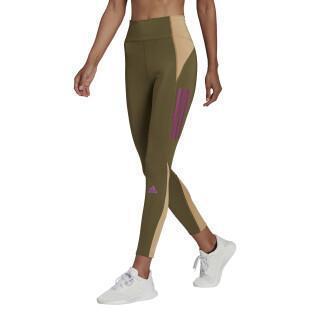 Damen-Leggings adidas Own The Run Block 7/8 Running