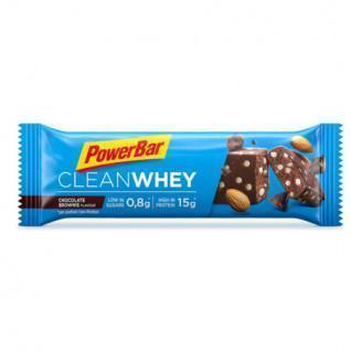 Packung mit 18 Riegeln PowerBar Clean Whey - Chocolate Brownie